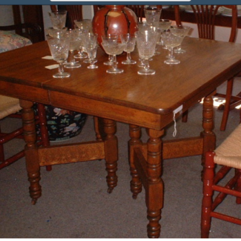 Vintage Oak Square Dining Table