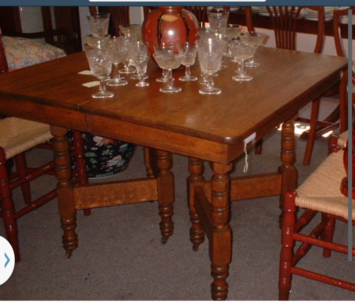 Vintage Oak Square Dining Table : Furniture 64 from twosistersantiques.com size 720 x 616 png 672kB