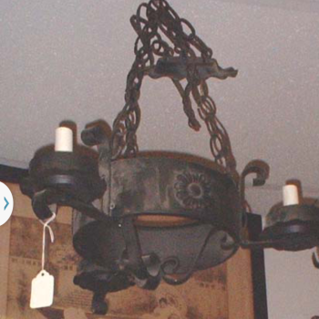 Vintage Metal Chandelier Hanging Light Fixture