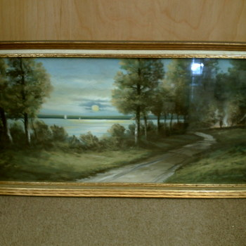 Antique Pastel Painting by Gunderson