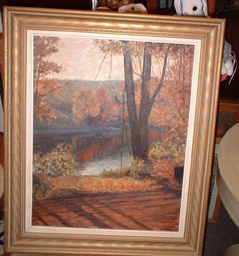 Oil Painting signed Zaboly