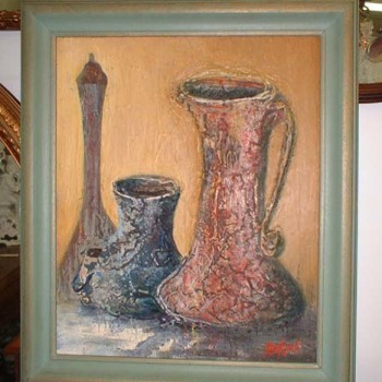 Still Life Oil Painting Signed Philip W. Perkins
