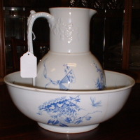 A. Shaw Ironstone Pitcher & Bowl