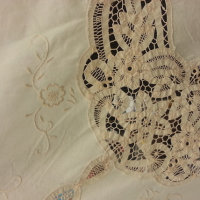 vintage crochet and embroidered tablecloth2