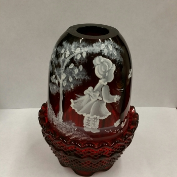 Fenton Mary Gregory Fairy Lamp