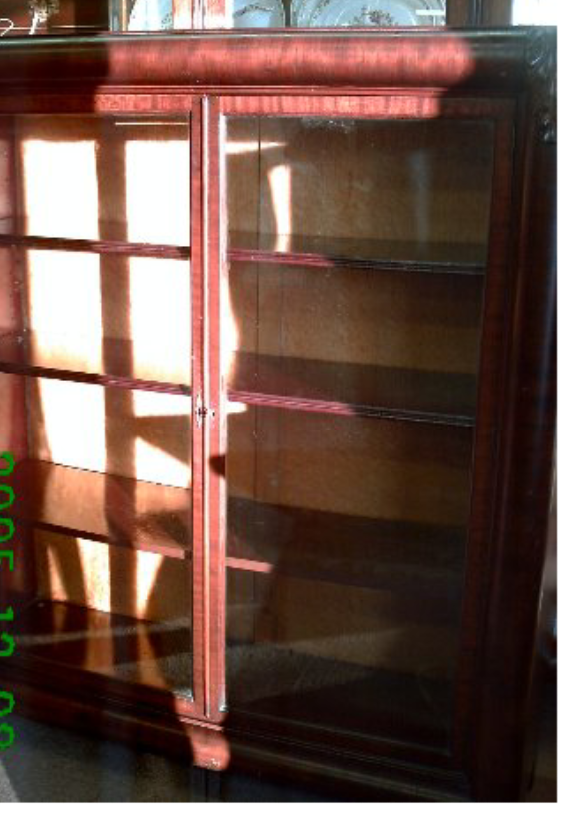 Antique 2 Glass Door Bookcase With Hairy Paw Feet