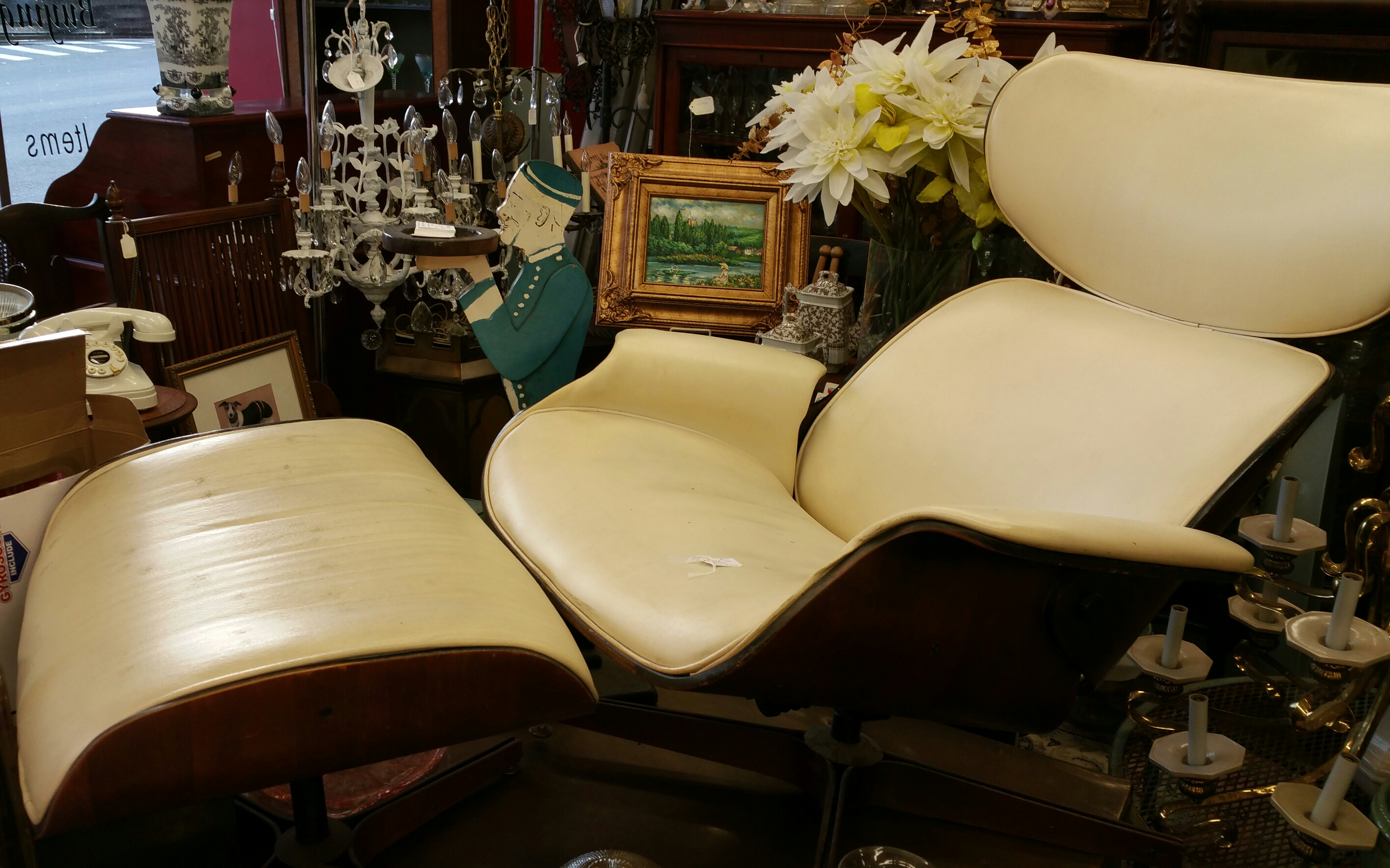 Sensational Mid Century Modern Chair And Ottoman Eames Lounge Chair Caraccident5 Cool Chair Designs And Ideas Caraccident5Info